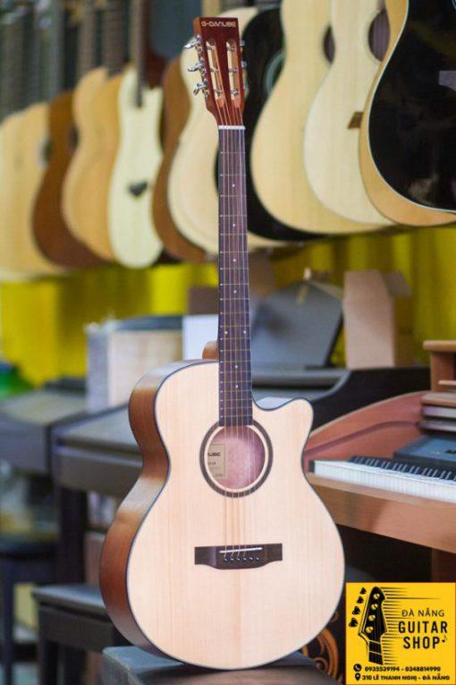 Guitar Acoustic G-Nadube Gá»— mahogani
